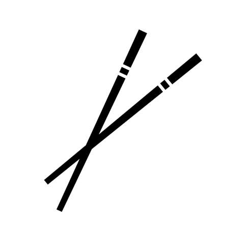 Chopsticks vector icon