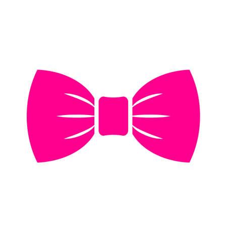 Icono de pajarita rosa brillante Ilustración de vector