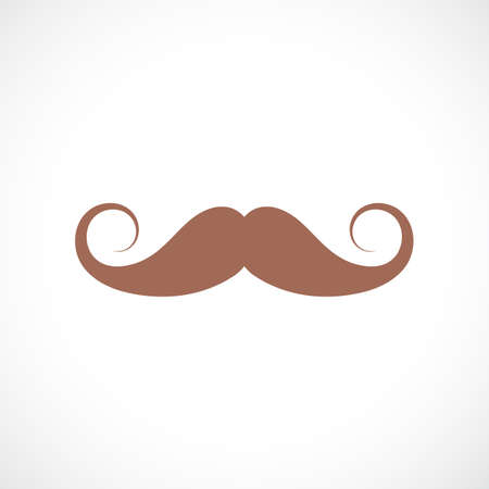 Curled vintage mustaches icon Banque d'images - 116944918