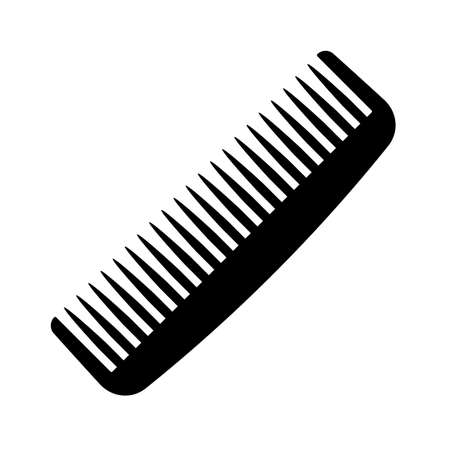 Hair brush vector icon Illustration