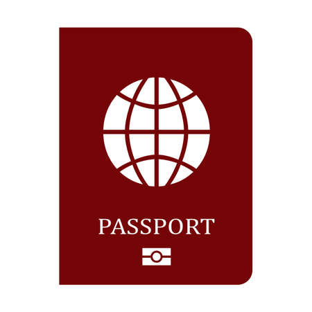 Passport vector icon Illustration