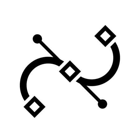 Vector bezier curve icon