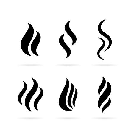 Icona di vettore di fumo Vettoriali