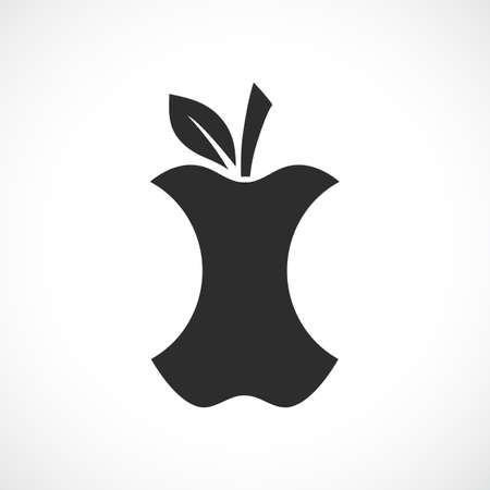 Apple core silhouette icon Standard-Bild - 116945132