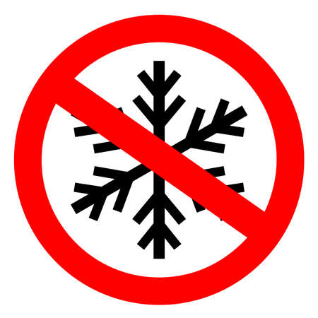 Do not freeze sign