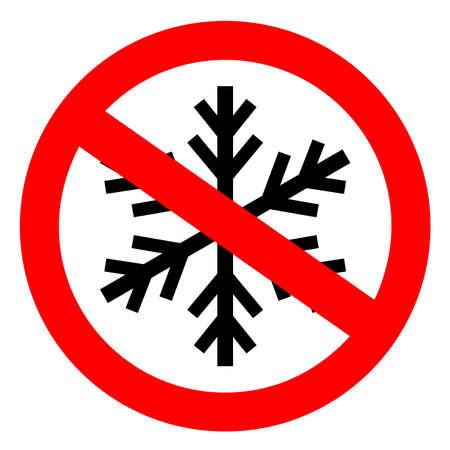 Do not freeze sign Reklamní fotografie - 116945136