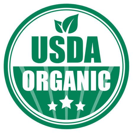 Usda organic green emblem