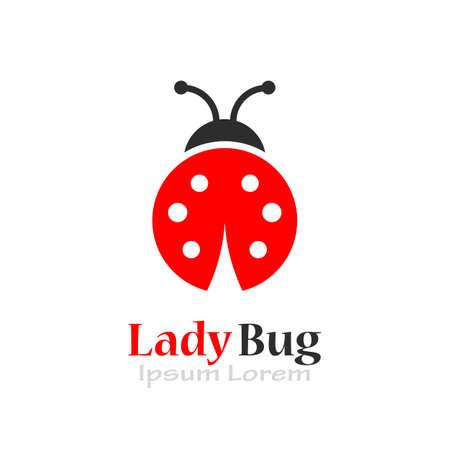 Lady bug vector logo Illusztráció