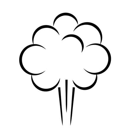 Smoke cloud line icon 向量圖像