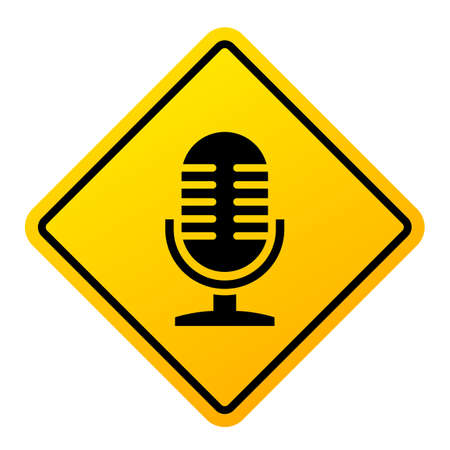 Podcast vector sign