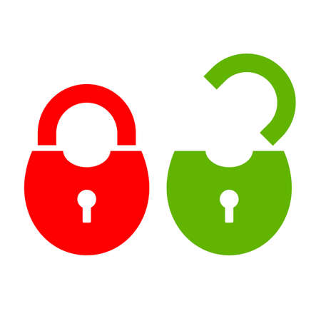 Open and closed padlock icon