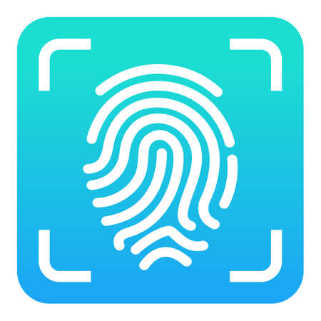 Finger print reader vector icon Vectores