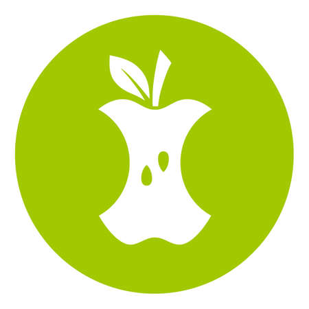 Food waste green icon