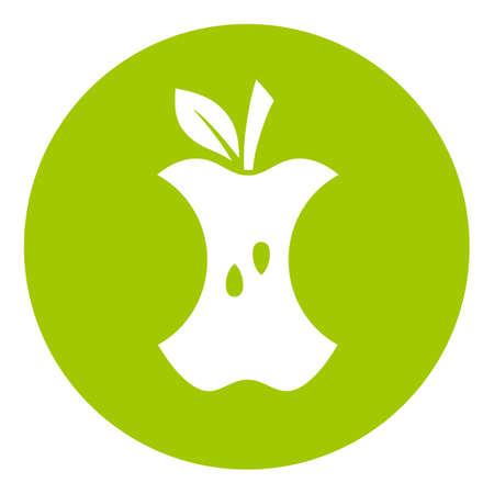 Icône verte de déchets alimentaires