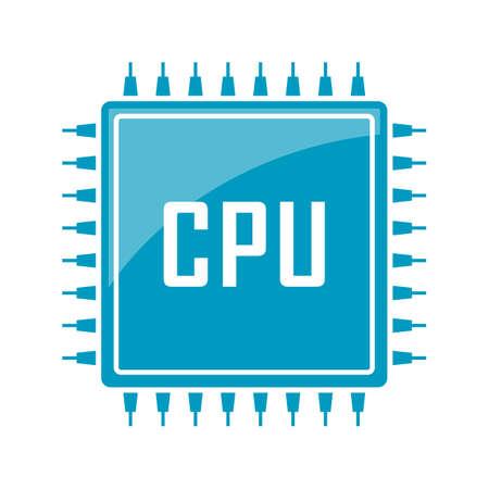 Cpu chip vector web icon