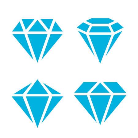 Icône de gemme topaze bleue isolé sur fond blanc Vecteurs