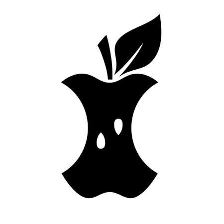 Apple bite vector icon on white background