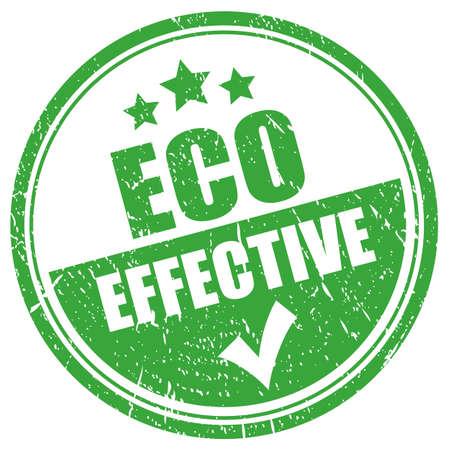 Eco effective grunge stamp isolated on white background