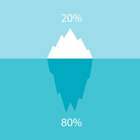 Infographic vector chart iceberg Vectores