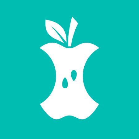 Apple bite vector icon Standard-Bild - 120173126