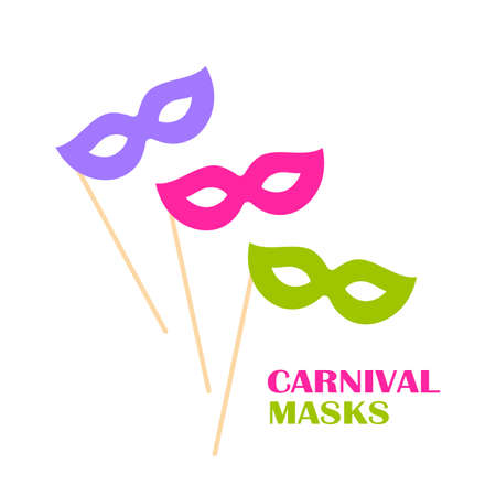 Masquerade mask vector icon isolated on white background