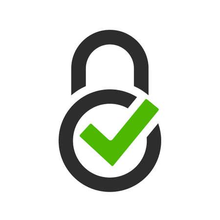 Logo vectoriel de garantie de protection isolé sur fond blanc
