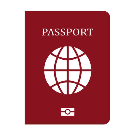 Passport vector icon isolated on white background 向量圖像