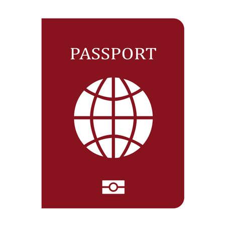 Passport vector icon isolated on white background Illustration
