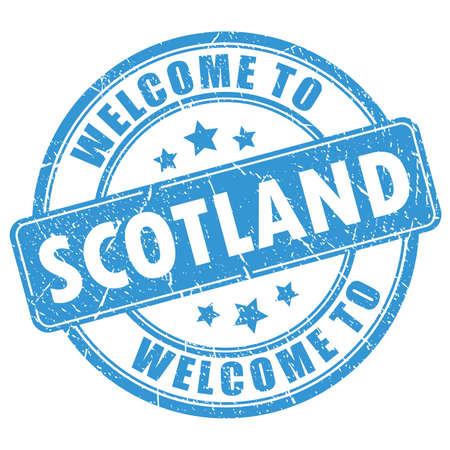 Welcome to Scotland vector stamp isolated on white background