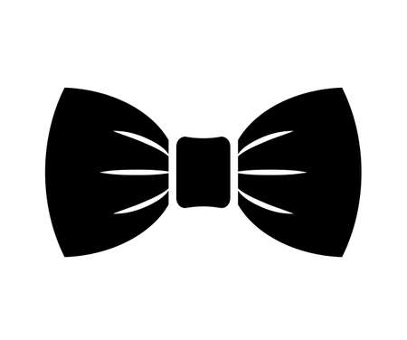 Bow tie vector icon on white background Ilustrace