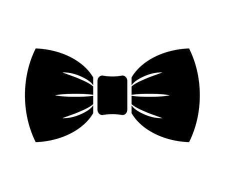 Icono de vector de pajarita sobre fondo blanco