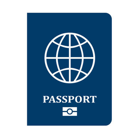 Passport cover page icon isolated on white background Illustration