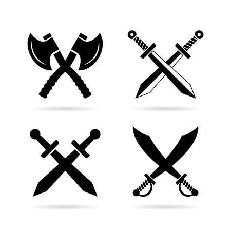 Old weapon vector icon isolated on white background