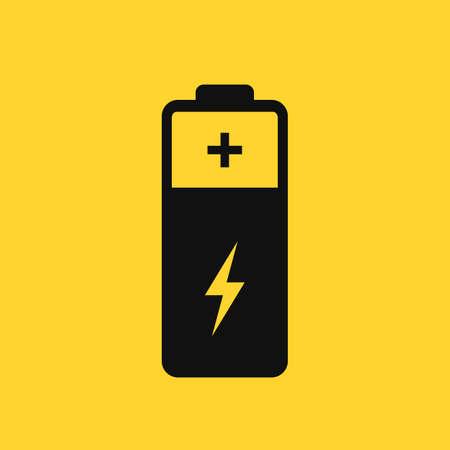 Battery vector pictogram on yellow background Ilustração