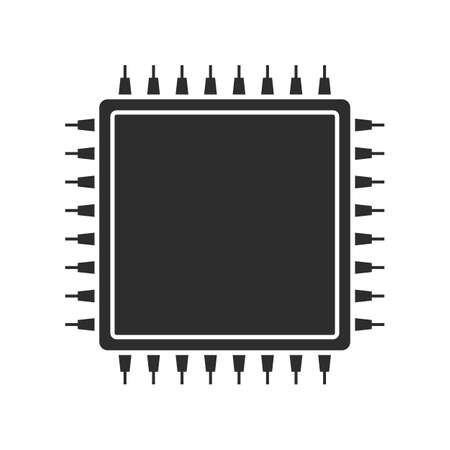 Cpu vector icon isolated on white background 向量圖像