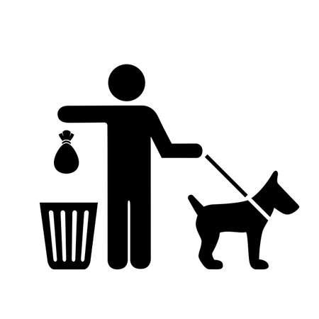 Nettoyer après votre signe de vecteur de fouille isolé sur fond blanc