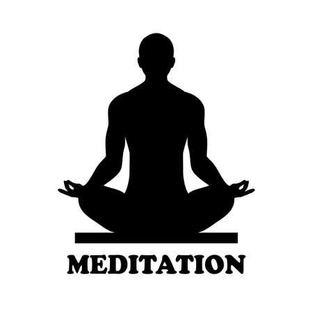 Meditation vector icon isolated on white background
