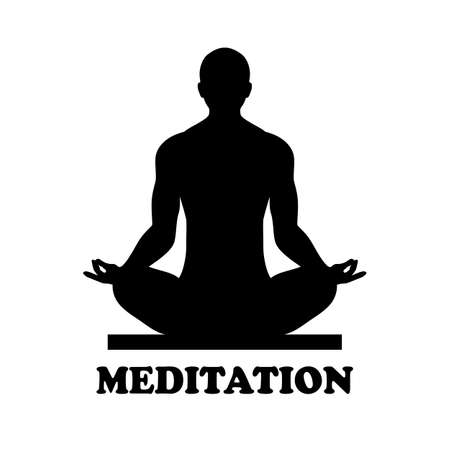 Meditation vector icon isolated on white background