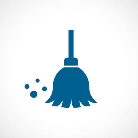 Mop vector icon isolated on white background Illustration