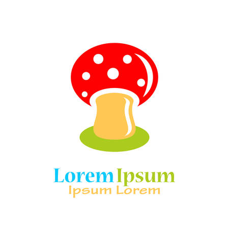 Mushroom vector logo isolated on white background
