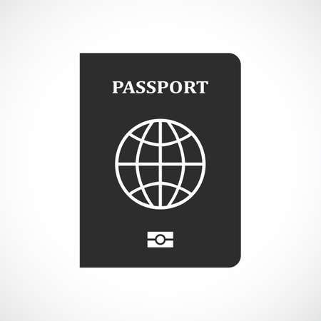 Passport vector pictogram isolated on white background Illustration
