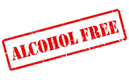 Alcohol free vector stamp isolated on white background
