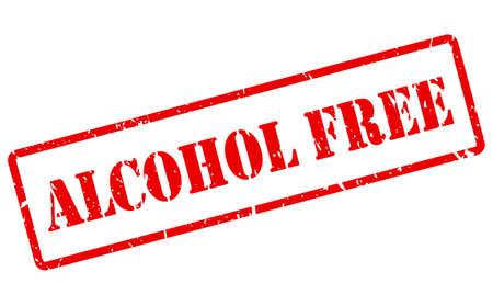 Sello de vector libre de alcohol aislado sobre fondo blanco
