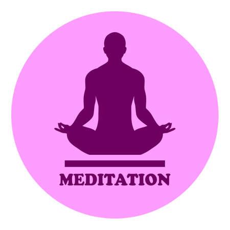 Yoga meditation vector logo isolated on white background Ilustrace