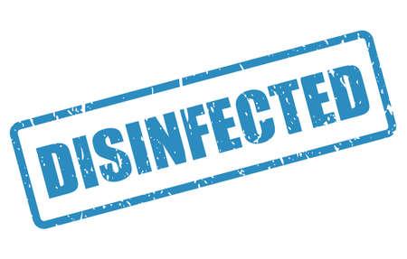 Desinfizierter Vektorstempel isoliert auf weißem Hintergrund Vektorgrafik