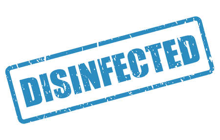 Disinfected vector stamp isolated on white background Ilustrace