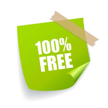Carta per appunti vettoriali gratis isolata su sfondo bianco Vettoriali