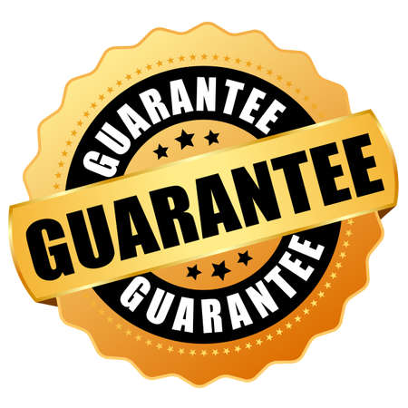 Guarantee gold vector icon isolated on white background Illustration