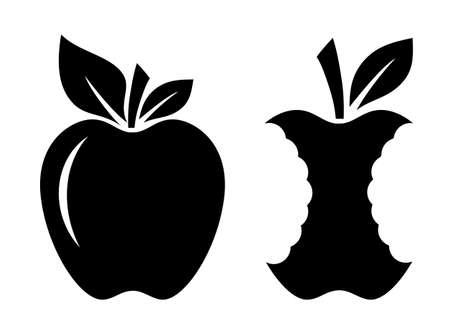 Apple and stub vector icon on white background Standard-Bild - 121898377
