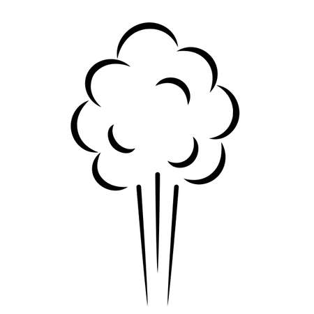 Air puff pressure vector icon isolated on white background